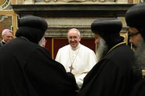coptic bishops meet pope
