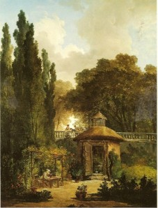 hermit in garden