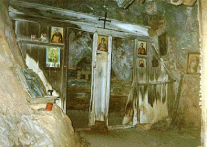 Holy Altar in a Mount Athos cave