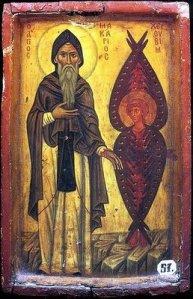 Macarius_the_Great_with_Cherub