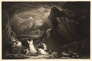 Plate from 'Illustrations to the Bible': The Covenant published 1832 by John Martin 1789-1854