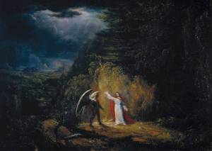 The Temptation in the Wilderness 1824 by John St John Long 1798-1834