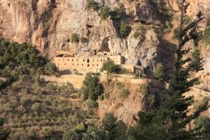 Qadisha, view on Deir Mar Elisha
