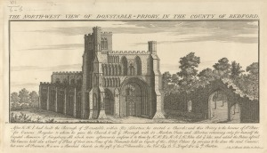 Dunstable_Priory,_North-West_view,_1730