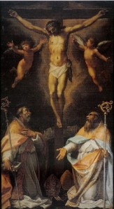 St Spes and St Eutizio w Christ small
