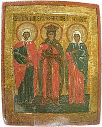 Three female ascetics