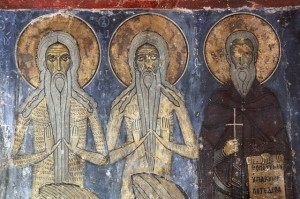 Fresco Painting of Saints in the Ayios Neophytos Hermitage