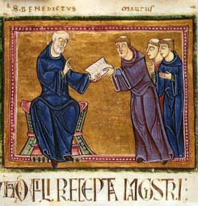 578px-St._Benedict_delivering_his_rule_to_the_monks_of_his_order
