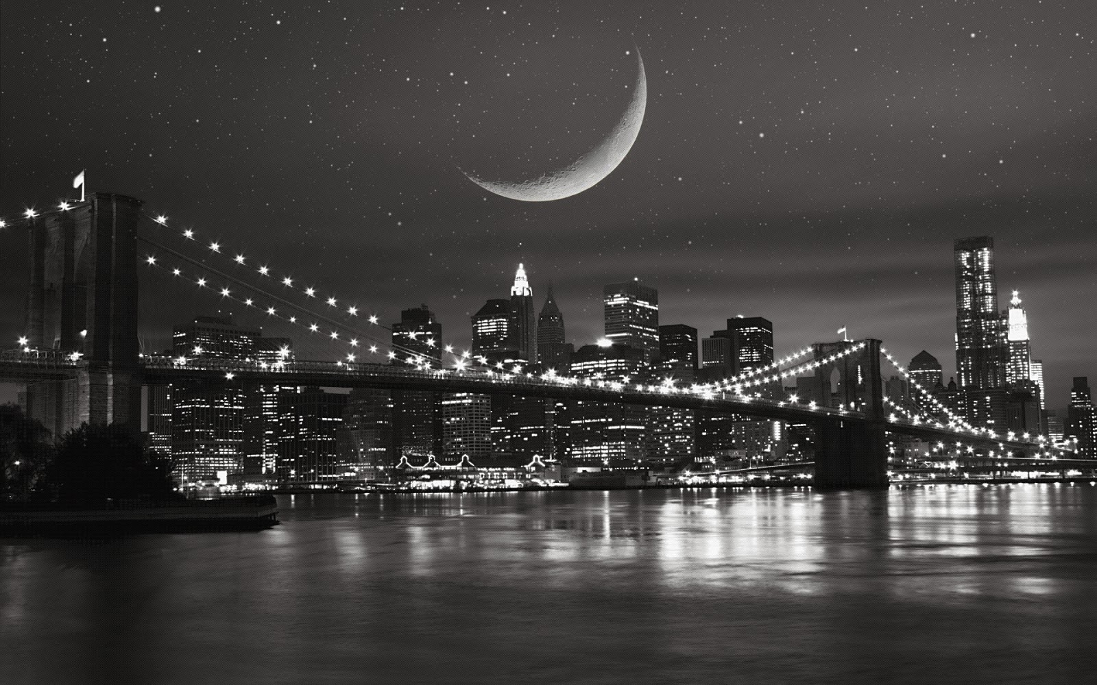 Great Wallpaper Home Screen New York - new-york-city-at-night-black-and-white-20143  Best Photo Reference_693596.jpg